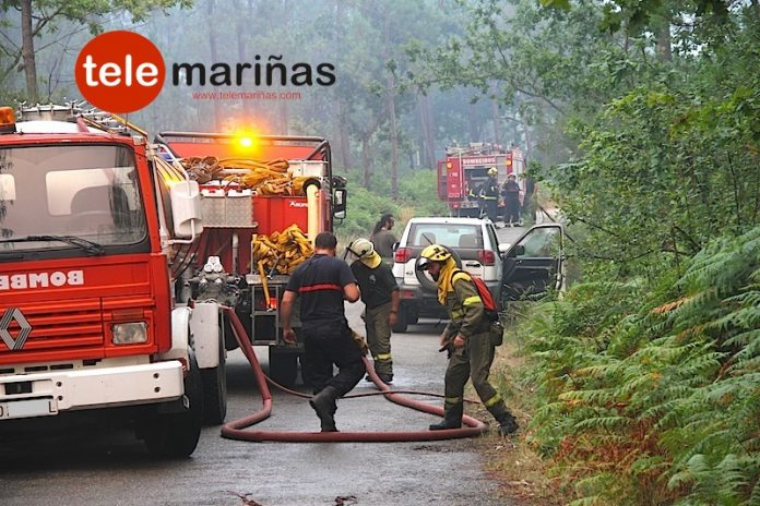 Incendio en Tomiño