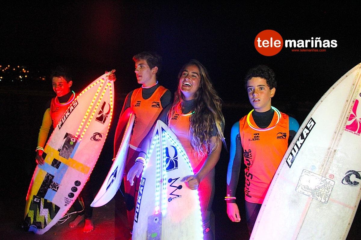 Cancelado el espectáculo del surf nocturno en la playa de Patos
