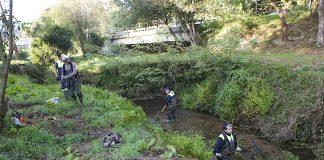 limpieza río Gondomar