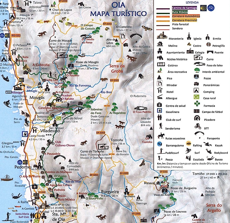 mapa oiã Oia presenta un nuevo mapa turístico del municipio   Telemariñas mapa oiã
