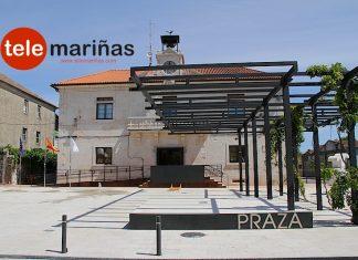 La Plaza de O Seixo y el Concello de Tomiño.