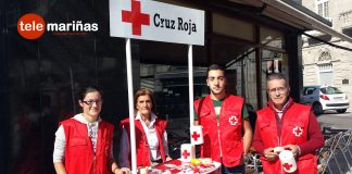 Voluntarios de Cruz Roja en A Guarda
