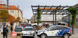 Presencia policial en el mercadillo de Tomiño