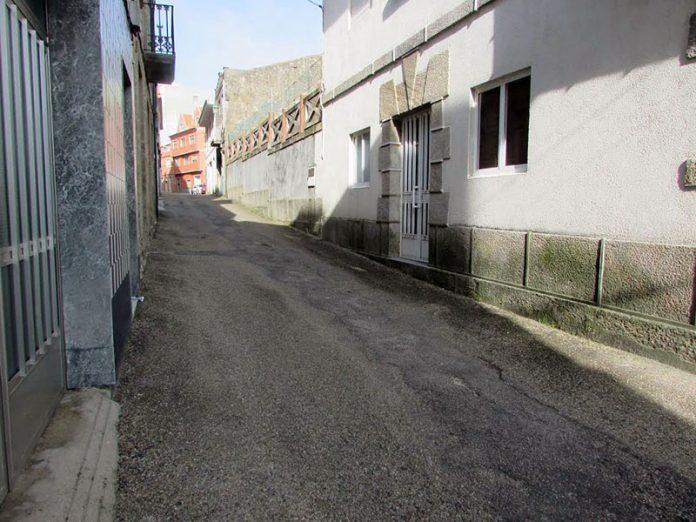 rúa calvario en A Guarda