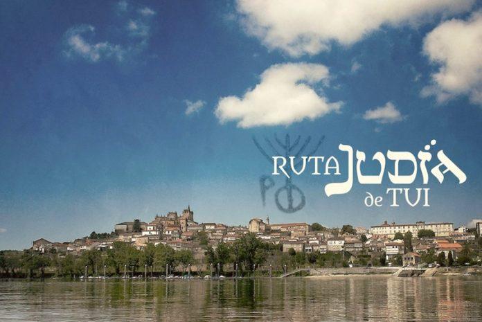 Díptico turístico Tui ruta judía