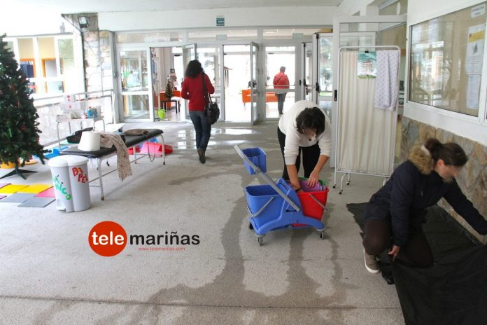 Inundación en el C.P.I. Manuel Suárez Marquier de O Rosal