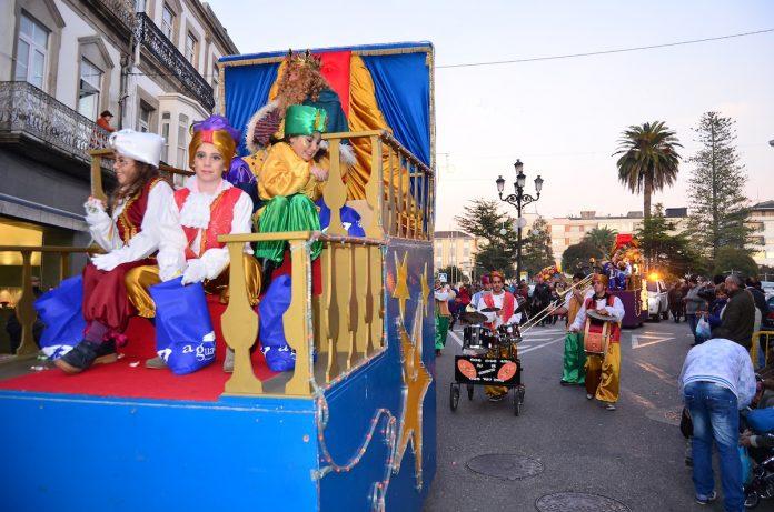 Cabalgata de Reyes Magos en A Guarda