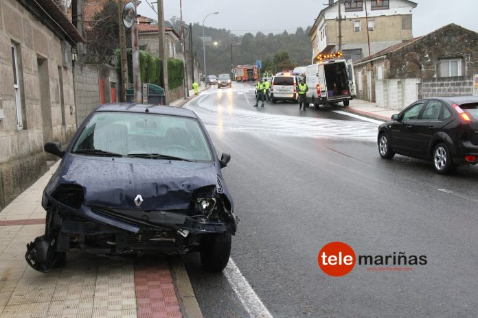 Doble accidente de tráfico en la