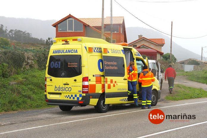 Herida una ciclista de 17 años en Oia