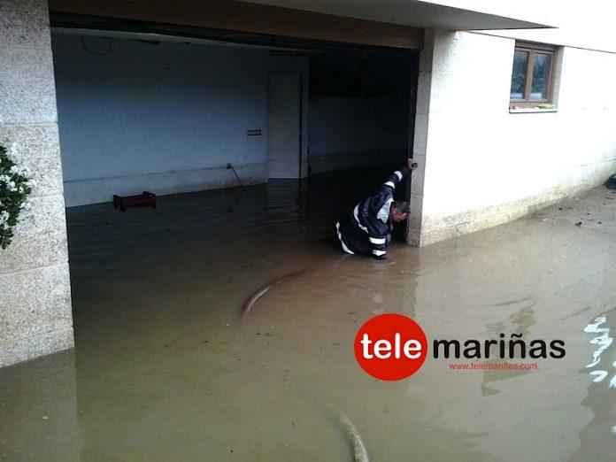 Inundaciones en una vivienda de Panxón