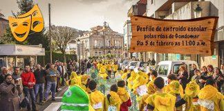 Desfile escolar de carnaval en Gondomar