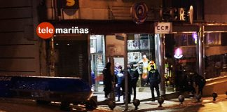 Tres agentes de la Guardia Civil ayer en las inmediaciones de la discoteca Ramallosa 2000