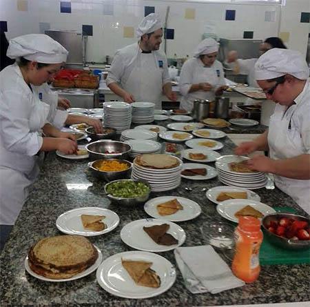 Desayuno saludable en la residencia de Patos, en Nigrán