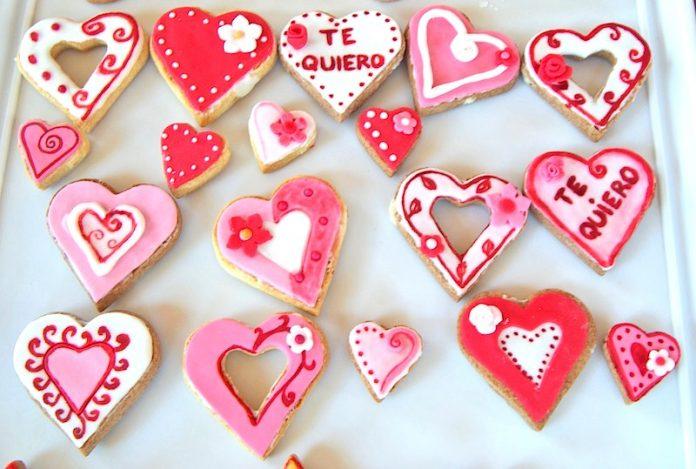 galletas decoración corazones