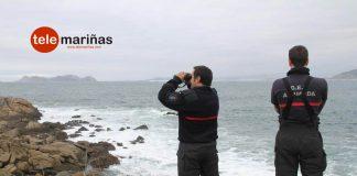 GES de A Guarda rastreando la costa de Baiona