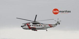 """Helicóptero """"Helimer 209"""" en la costa de Oia"""