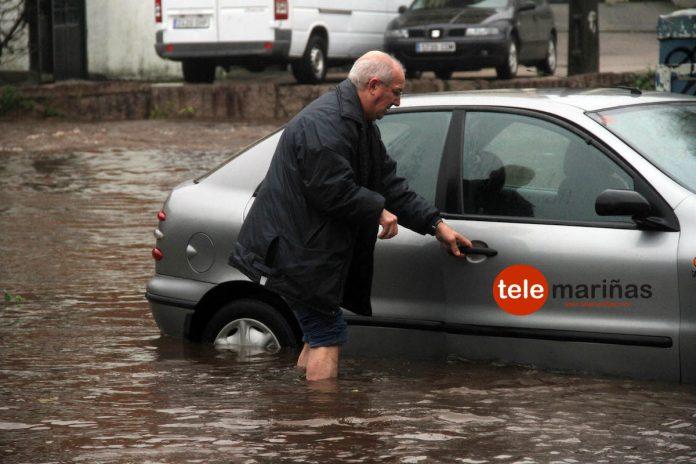 Gondomar sufre el enésimo desbordamiento de los ríos Zamans y Miñor