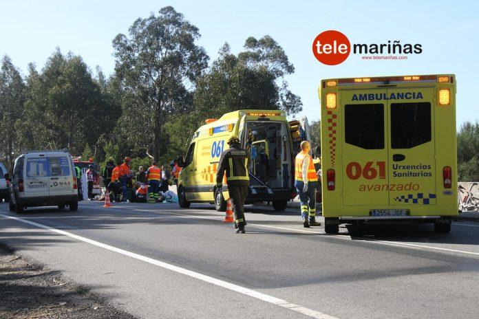 Un conductor se da a la fuga tras arrollar a ocho ciclistas en A Guarda y al menos matar a uno de ellos