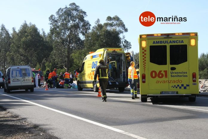 ambulancias accidente de a guarda