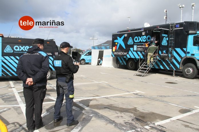 Operativo especial de emergencias en Baiona