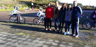 La Vuelta despierta el entusiasmo de la bicicleta entre los escolares de Baiona