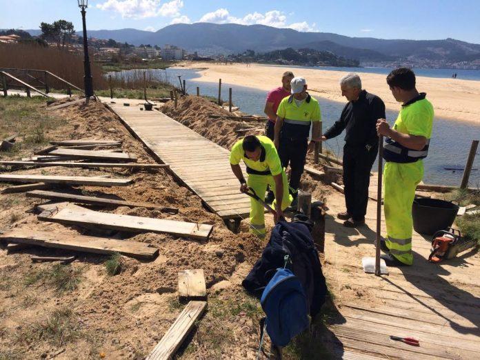Arrancan las obras de reparación en Playa América