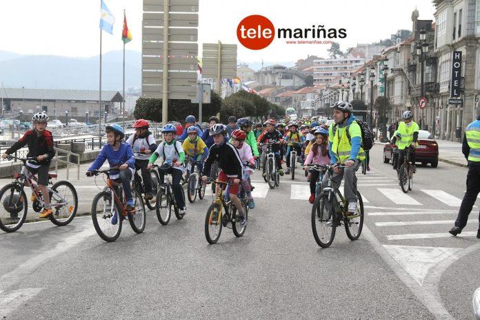 pedaladas solidaris en nigran y baiona
