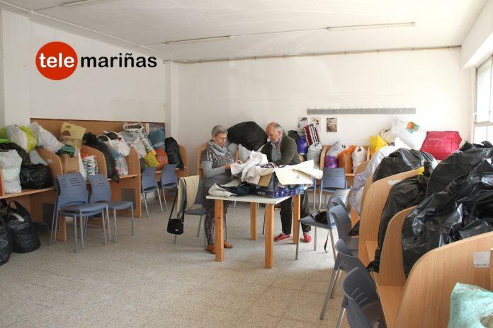 Recogen más de una tonelada de ropa de abrigo para refugiados sirios en Gondomar