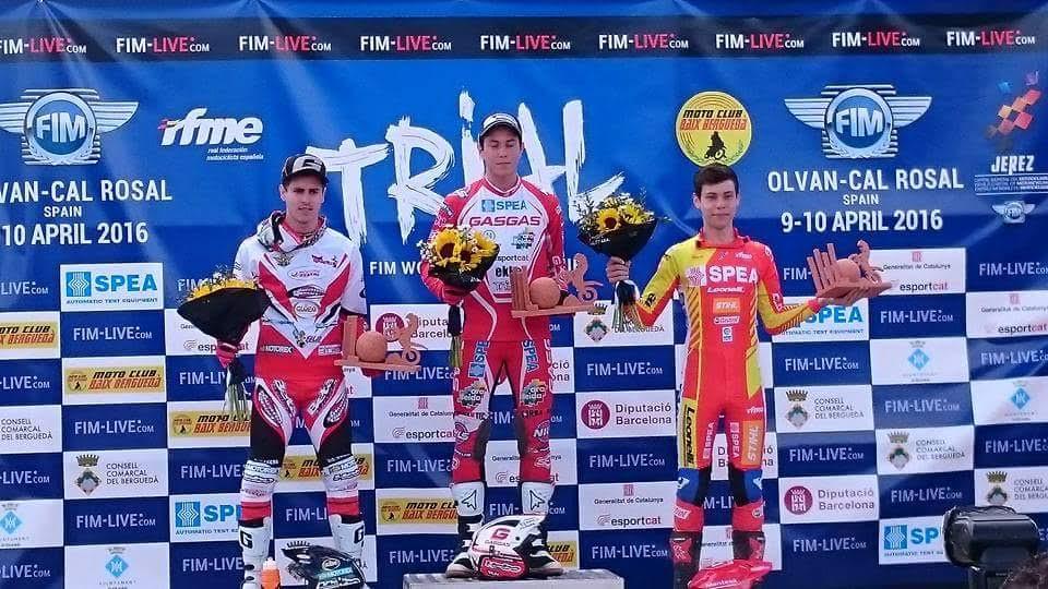 CEDIDA // Gabriel Marcelli en el podio tras su debut en Cataluña.