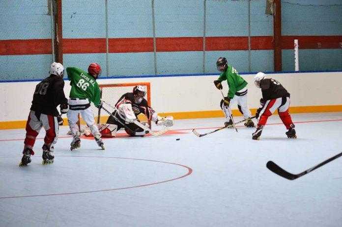 El equipo masculino de A Guarda Hockey Liña participó en la Sede de la Liga Gallega de Hockey Línea