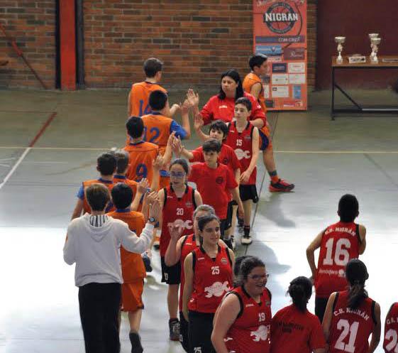 El equipo alevín del Airexa de Nigrán, subcampeón de la liga Basketgal