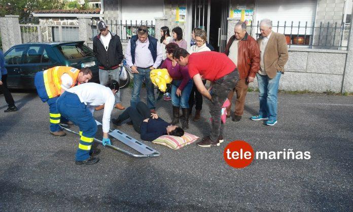 Un ciclista atropella a una mujer en Baredo