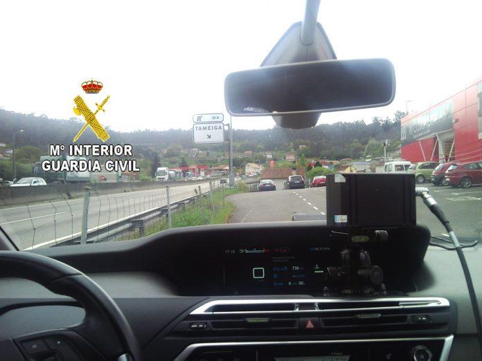 Detectan a una motocicleta circulando a 183Km/h en un tramo limitado a 80 en la A-55