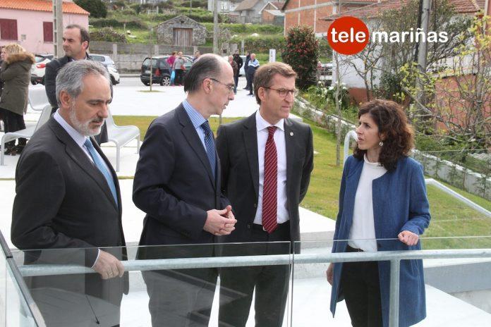 El Presidente de la Xunta Alberto Núñez Feijóo visitó el centro de salud de Oia