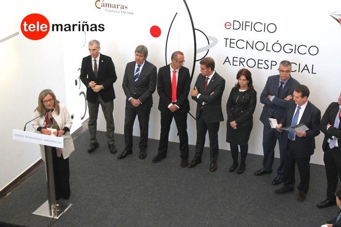 Feijóo inaugura el edificio tecnológico aeroespacial de Porto do Molle