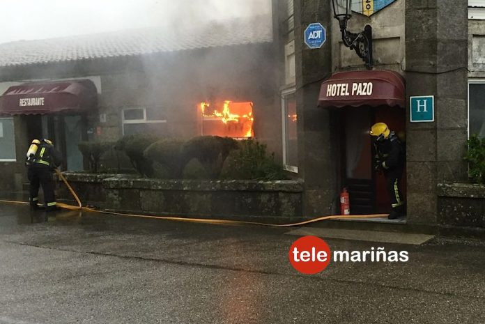 Una tormenta causa un incendio en un hotel en el monte de Santa Trega
