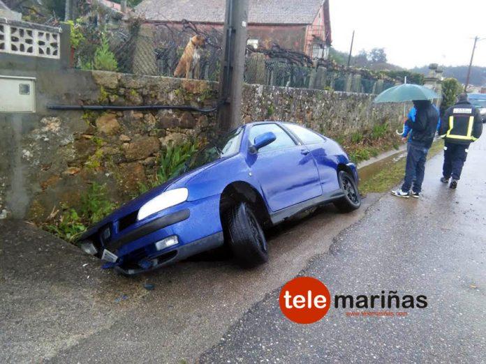 Una salida de vía en O Rosal se salda sin heridos