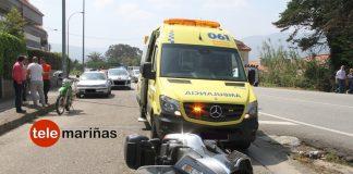 Herido tras perder el control de la moto que conducía en Nigrán
