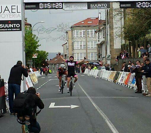 El baionés Brais Gómez, roza la victoria en el Trofeo da Ascensión en Santiago de Compostela
