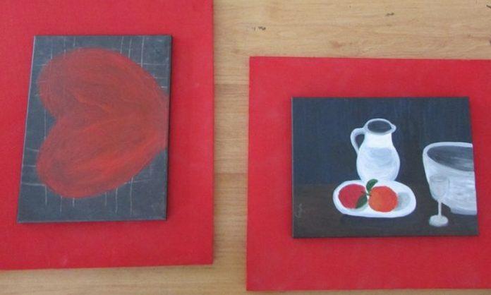 Exposición de curso de pintura en A Guarda