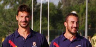 Óscar Alonso y David Prada, con la selección española