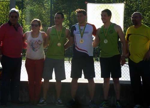 El atleta de A Guarda, Sergio Rodrígugez, logra dos medallas en Portugal