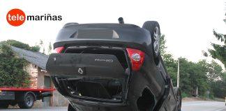Dos heridos tras volcar su coche en Tebra