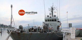 El patrullero de la Armada 'Tabarca' visita Baiona