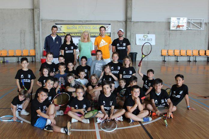 El número uno de Galicia visita el Campus de Tenis de Baiona