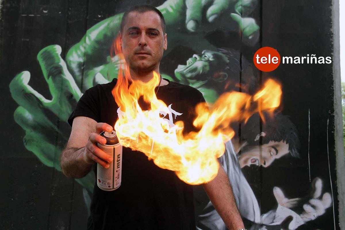 """Gory: """"Moriré pintando grafitis a mucha honra en O Val Miñor"""""""
