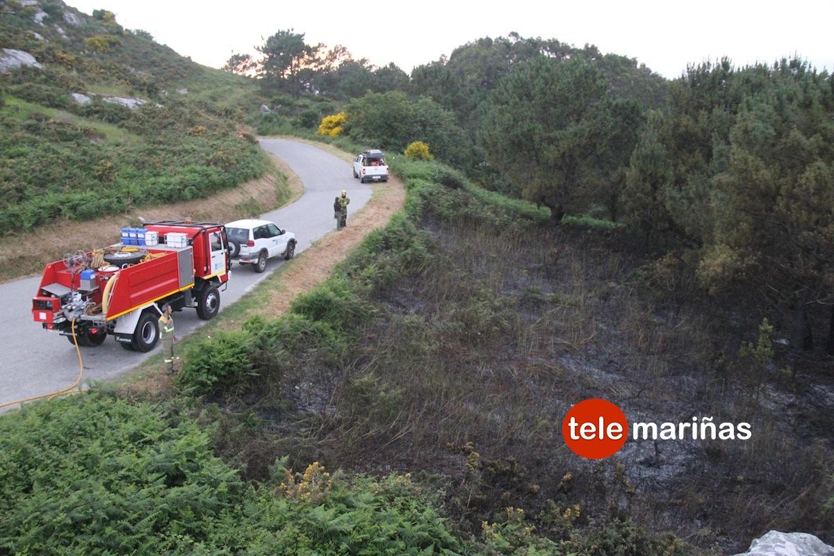 La comarca de O Val Miñor sufre los primeros incendios forestales del año