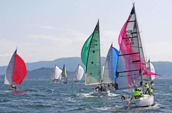 El viento se alía con la salida de la Baiona Angra Atlantic Race