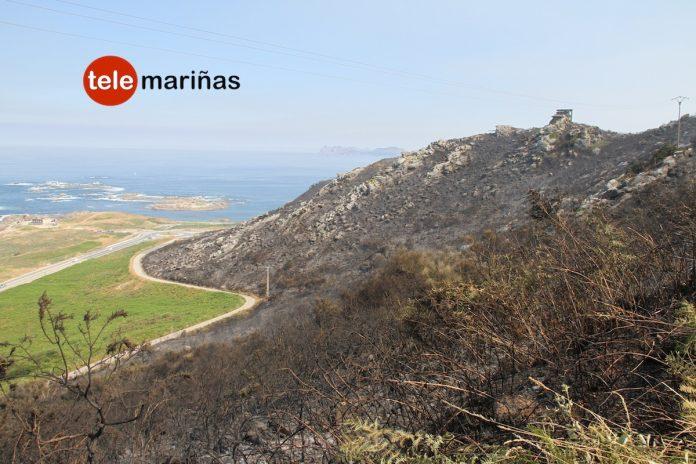 Controlados cuatro incendios forestales que afectaron a más de 30 hectáreas en O Val Miñor