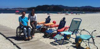 Últimos días para votar A Ladeira, que compite por ser la playa más accesible de España